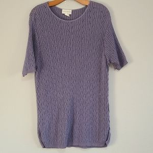 Sarah Arizona short sleeve made in USA sweater